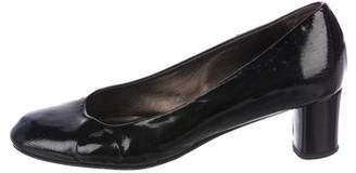 AGL Patent Leather Round-Toe Pumps