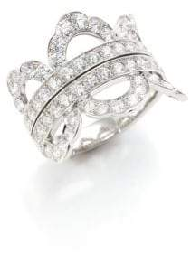 Lorelei Hearts On Fire Diamond& 18K White Gold Ring