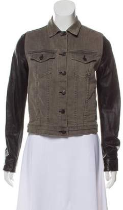 Rag & Bone Denim Leather Jacket