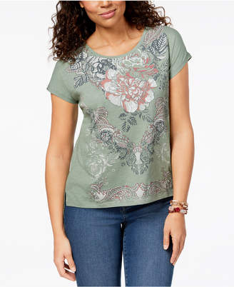 Style&Co. Style & Co Petite Graphic-Print T-Shirt, Created for Macy's