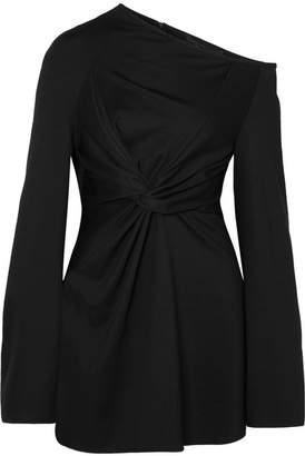 Sid Neigum Asymmetric Twist-front Stretch-knit Tunic