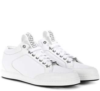 Jimmy Choo Miami leather and canvas sneakers
