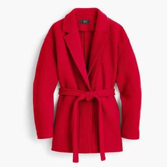 J.Crew Camille short wrap coat in Italian boiled wool
