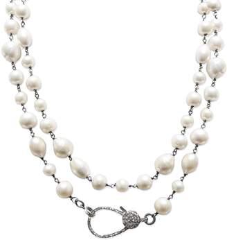 JANE BASCH DESIGNS Jane Basch Long Pearl & Diamond Necklace