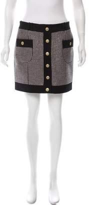Pierre Balmain Textured Mini Skirt w/ Tags