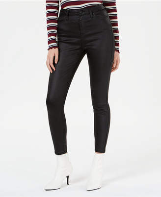 Celebrity Pink Juniors' Coated Skinny Jeans
