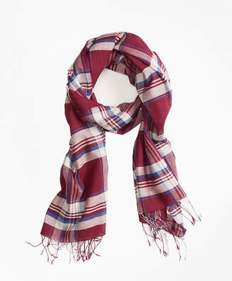 Brooks Brothers Plaid Cotton Scarf