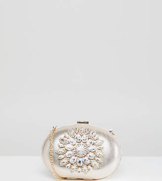 True Decadence Round Box Clutch Bag With Embellishment