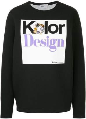 Kolor embellished print sweatshirt