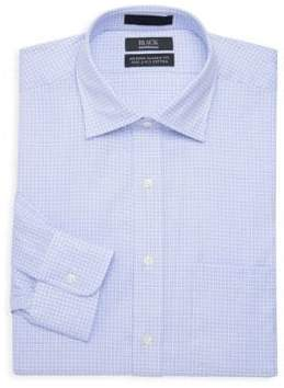 Saks Fifth Avenue Dobby Classic-Fit Mini Checkered Dress Shirt