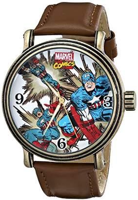 Marvel Men's W001759 The Avengers Captain America Analog-Quartz Watch