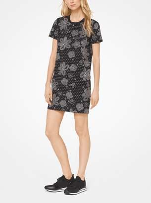 b94897eec3fc MICHAEL Michael Kors Floral Studded Scuba-Crepe Dress