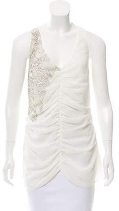 Ted Baker Gathered Embellished Top w/ Tags