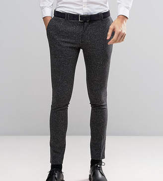 Noak Super Skinny Suit Pants In Fleck Wool
