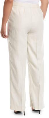 Lafayette 148 New York Plus Linen Menswear Straight-Leg Trousers, Plus Size