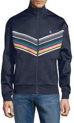 Original Penguin Long-sleeve Striped Track Jacket