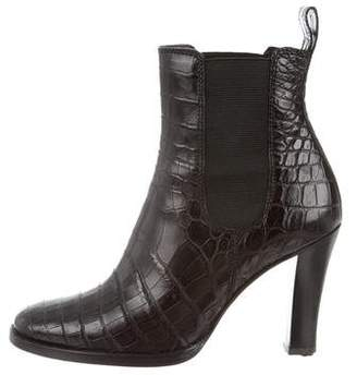 Ralph Lauren Purple Label Crocodile Ankle Boots