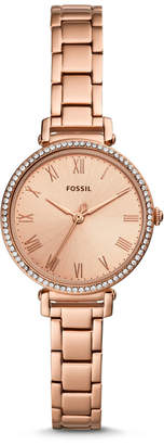 Fossil Kinsey Three-Hand Rose Gold-Tone Stainless Steel Watch