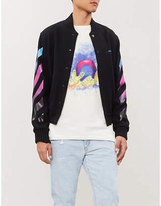 Off-White Logo-print wool-blend jacket