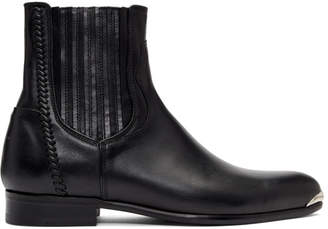 Wooyoungmi Black Pointed Chelsea Boots