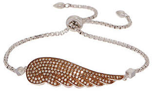 Affinity Diamond Jewelry Affinity Colored Diamond Angel Wing AdjustableBracelet, Ster