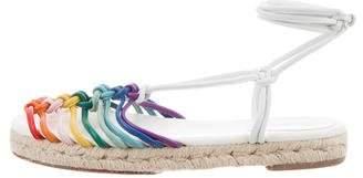 Chloé Leather Lace-Up Sandals