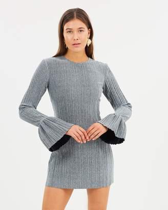 Sparkle Pleat Frill Mini Dress