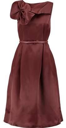 Raoul Rosette-Embellished Silk-Taffeta Midi Dress