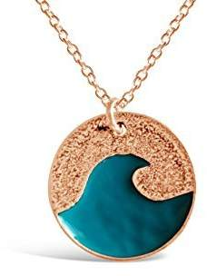 Vila Rosa Jewelry Rosa Ocean Wave Necklace, Go with The Waves Beachy Ocean Necklace, Ocean Jewelry for Women