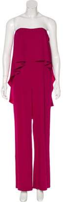 Halston Sleeveless Wide-Leg Jumpsuit