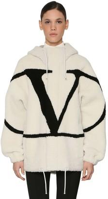 Valentino (ヴァレンティノ) - VALENTINO VLOGO インターシャシアリングジャケット