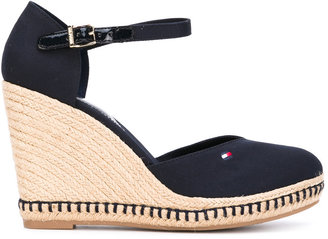 Tommy Hilfiger buckled wedge sandals $98.25 thestylecure.com
