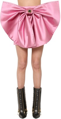 Fausto Puglisi DETACHABLE DUCHESSE BOW MINI SKIRT