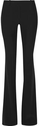 Alexander McQueen - Grain De Poudre Crepe Flared Pants - Black $795 thestylecure.com
