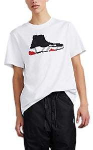 Mostly Heard Rarely Seen 8-Bit Men's Speed Runner Sneaker-Graphic Cotton T-Shirt - White