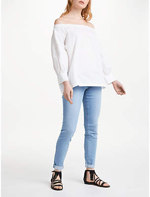 AND/OR Mia Embroidered Top, White