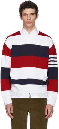 Thom Browne Tricolor Striped Cotton Sweatshirt