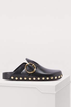 Isabel Marant Leather Mirvin mules