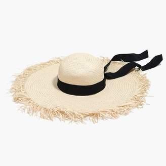 J.Crew Raw-edge straw hat