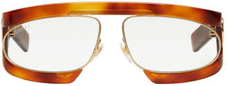 Gucci Tortoiseshell Runway Visor Sunglasses