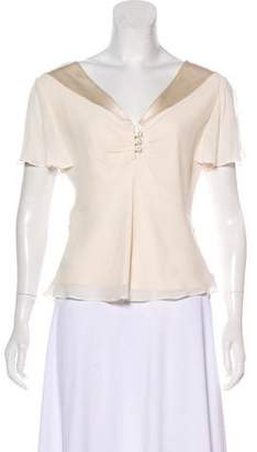 Temperley London Short Sleeve Silk Blouse