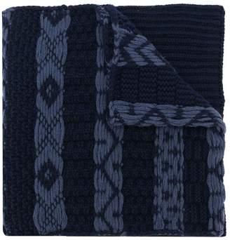 Calvin Klein woven-detail scarf
