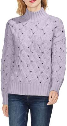 Vince Camuto Texture Stitch Mock Neck Sweater