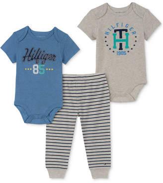 912d92d90c2f Tommy Hilfiger Baby Boys 3-Pc. Logo-Print Bodysuits   Striped Pants Set