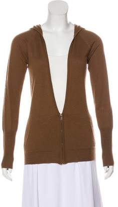 Thomas Wylde Silk Hooded Cardigan