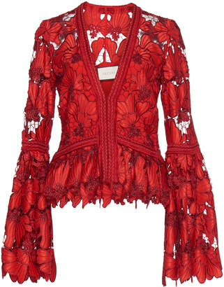 Alexis Vinton Bell Sleeve Lace Blouse