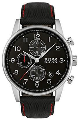 BOSS Navigator Black Dial Black Fabric Strap Chronograph Watch