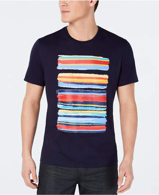 Alfani Men Paint Stripe Graphic T-Shirt
