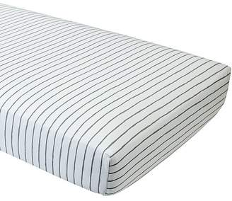 Organic Wild Excursion Grey Stripe Crib Fitted Sheet $24 thestylecure.com