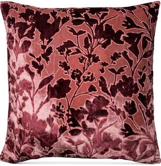 "Macy's Lacourte Misha Handcrafted Burnout Velvet Jacquard 20"" Square Decorative Pillow, Created for"
